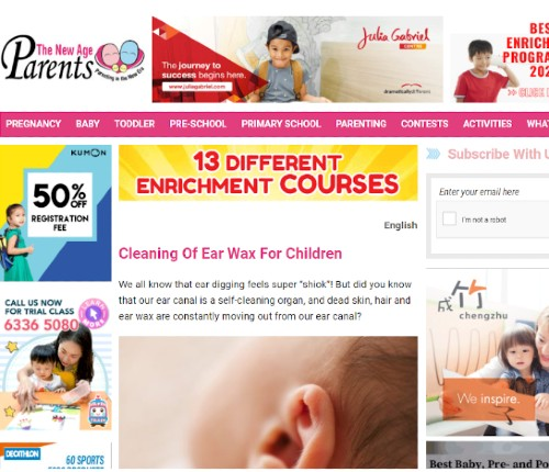 Cleaning Of Ear Wax For Children