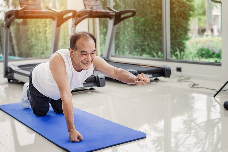 Picture of an uncle doing exercise