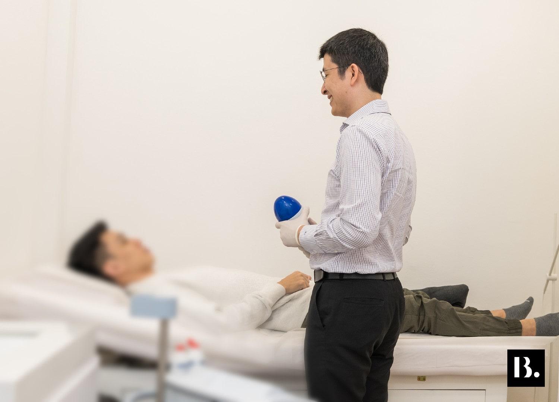 Dr Ben doing Erectile Dysfunction Treatment