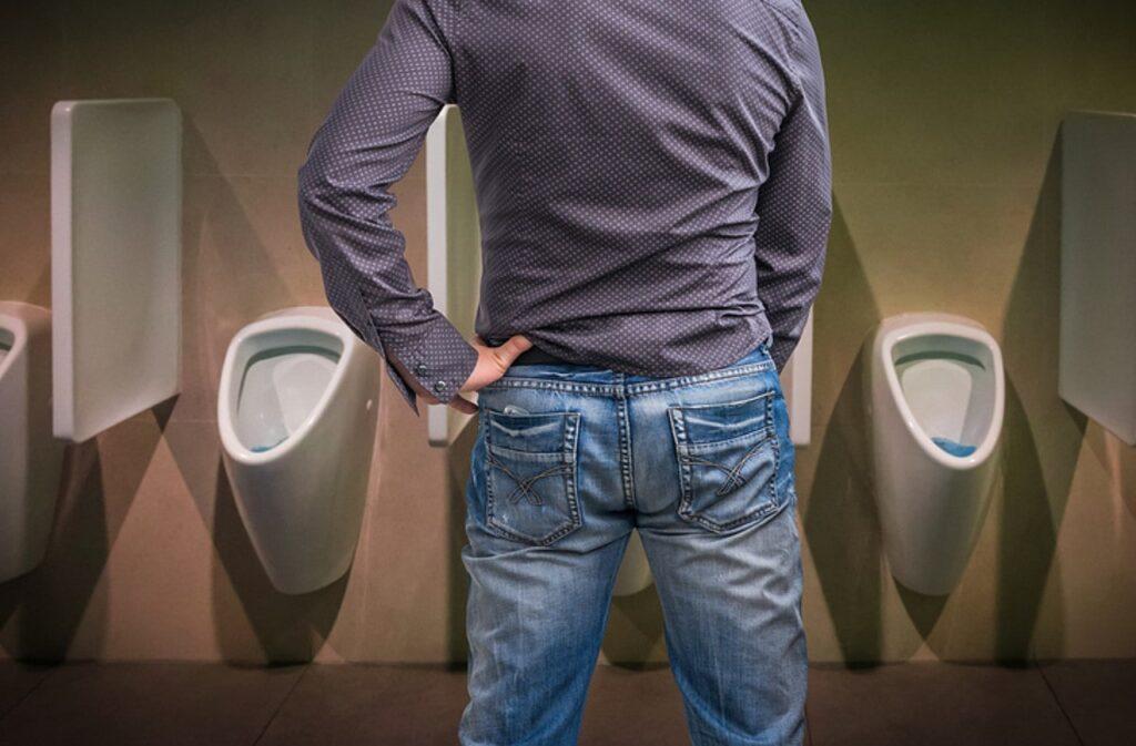 Man using the toilet